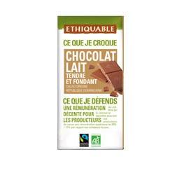 gamme de chocolats éthiquable