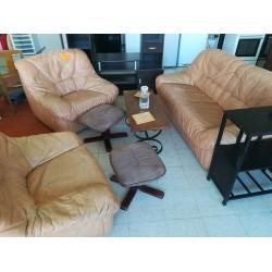 2] Salon en cuir