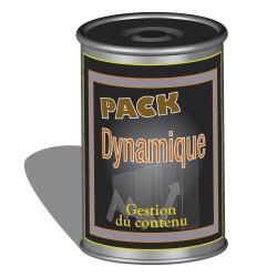 """Pack """"Dynamique"""" : gestion de contenu du site"""
